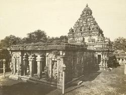 East view of the shrine, Kailasanatha Temple, Great Conjeeveram, Chingleput District 396